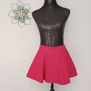 Hollister red pleated skater skirt size small